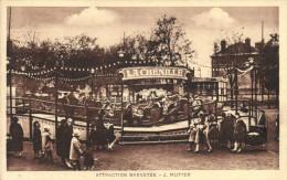 MANEGE DE FOIRE - LA CHENILLE - ATTRACTION BREVETEE - J MUTTER - Kermissen