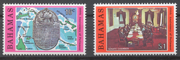 Bahamas 1979 Mi# 444+ 447** PARLIAMENT OF BAHAMAS, 250th ANNIV. - Bahamas (1973-...)