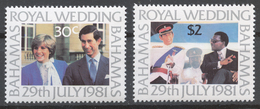 Bahamas 1981 Mi# 480-81** ROYAL WEDDING - Bahamas (1973-...)