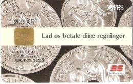 TARJETA DE DINAMARCA DE UNAS MONEDAS  (MONEDA-COIN-BANKNOTE) - Sellos & Monedas