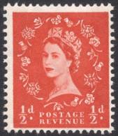 Great Britain, 1/2 P. 1960, Sc # 353p, Mi # 318yX, MH - 1952-.... (Elizabeth II)