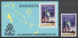 Bahamas 1983 Mi# 540+ Bl.39** INDEPENDENCE, 10th ANNIV. - Bahama's (1973-...)