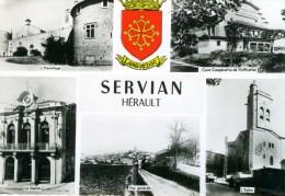 Servian -  En 1956 - Multivue - Autres Communes