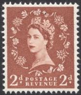Great Britain, 2 P. 1960, Sc # 356p, Mi # 321yX, MH - 1952-.... (Elizabeth II)