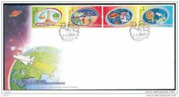 FDC De Chine : 2000 Hong Kong - Le Nouveau Millénium SG1002/5 - Hong Kong (1997-...)