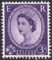 Great Britain, 3 P. 1960, Sc # 358p, Mi # 323yX, MH - 1952-.... (Elizabeth II)