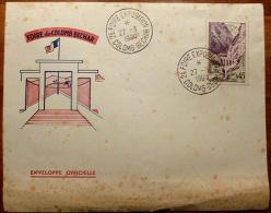 ENVELOPPE OFFICIELLE - FOIRE DE COLOMB BECHAR - CAD 2° FOIRE EXPOSITION - 1921-1960: Periodo Moderno