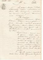 COMMUNE DES ARCS   83 (VAR )  VENTE DE TERRAIN à BATIR   1868 - Manuscripts