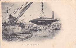 22472 Sous Marin Le Goubet,  Sans éd . Grue Port - Sous-marins