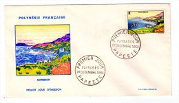 """Papeete - F.d.c. - 1964 - Paysages  """" Gambier  """""""