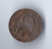 Piéce De Deux Centimes/ Napoléon III/ Lauré/ K (bordeaux)/1862        NAP11 - Medals
