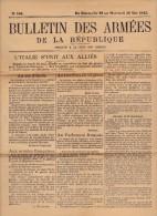 BULLETIN DES ARMEES  DIMANCHE 23 AU 26 MAI 1915-  COMPLET TB - Vieux Papiers