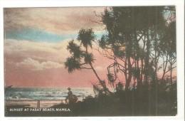 Postal De Sunset At Pasay Beach, Manila - Filipinas