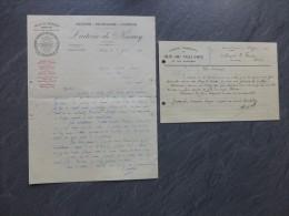 Vendée,  Laiterie De Nesmy Et Du Gué-de-Velluire, Lot De 2 Factures 1930 ;  Ref694 - 1900 – 1949