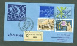 VATICAN 1991 AEROGRAMME REGISTERED POPE JOHN PAUL II Travel To WRSZAWA POLAND (WITH NEWSPAPER OF EVENT) (615 - Vatican