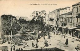 BEYROUTH PLACE DES CANONS ECRITE EN 1924 VOIR LES DEUX SCANS - Liban