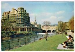 M1008 Bath - The River Avon - Pulteney Bridge / Viaggiata 1972 - Bath