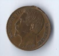 La Ville De Paris à Louis Napoléon Empereur /Médaille/ 1852        NAP12 - Medals