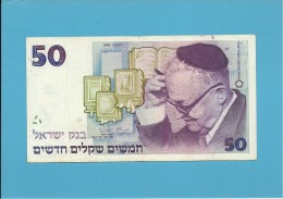 ISRAEL - 50 NEW SHEQALIM -  1992 - P 55c - Sign. 7 - Israel