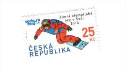 Czech Republic  2014 - Winter Olympic Games In Sochi, Snowboard, 1 Stamp, MNH - Skateboard