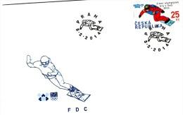 Czech Republic  2014 - Winter Olympic Games In Sochi, Snowboard, FDC, - Skateboard