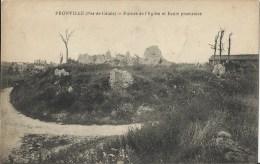 PRONVILLE - Ruines De L'Eglise Et Ecole Provisoire - France