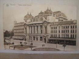 CP. 717. Anvers. Théâtre Lyrique Flamand. Cachet à étoiles. Cachet Miltaire Et Timbre Occupation. - Antwerpen
