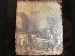 Plaques De Verre Photographie Par G MICHELEZ En 1883 Jean Jacques Scherrer La Capitulation De Verdun Le 2 Septembre 1792 - Plaques De Verre