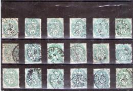 1900 - Blanc  Y&T No 111 LOT X 18 - 1900-29 Blanc
