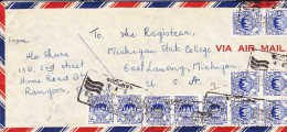 Birma Letter, Letter Obliteration Rangoon - Myanmar (Birma 1948-...)