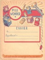 Protege Cahier Illustré Thème électricité  Pile Wonder  Ne S'use Que Si L'on S'en Sert - Electricité & Gaz