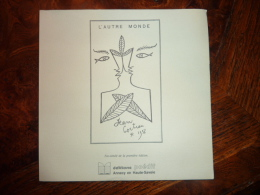 Poemes Missives (L'autre Monde  Jean Cocteau 1958 ) - Poésie
