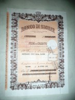 BANCO DI SICILIA - FEDE DI CREDITO - - Monete & Banconote