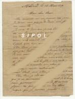Lettre écrite à Madrid Le 13/3/1891 Par  José Schüffelmann Contremaitre De Fonderie Du Ch De Fer  Du Midi - Manuscripts