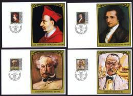 1981  Peintures De Personnes Célèbres: Cardinal Von Mailand, Goethe, Alexandre Dumas, Hermann Hesse Série Complète - Cartes-Maximum (CM)