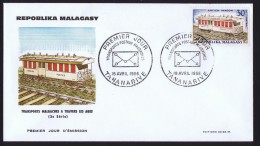 1966  Wagon Postal  FDC - Madagascar (1960-...)