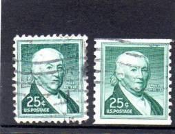 USA113 - STATI UNITI 1954 25 CENT. - Oblitérés