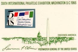 USA096 - STATI UNITI 1966 FOGLIETTO ESPOSIZIONE MNH - Stati Uniti