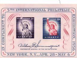 USA093 - STATI UNITI 1956 FOGLIETTO ESPOSIZIONE MNH - Neufs