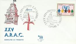 TRIESTE- 25^ A.R.A.C.  COMUNE DI TRIESTE-  27-11-1971 - Esposizioni Filateliche