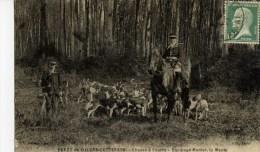 CHASSE à COURRE-Villers-Cotterets- Equipage MENIER,la Meute- - Caccia
