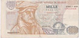Mille Francs Publicité électorale PLP - [ 8] Fakes & Specimens
