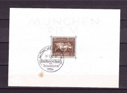 GERMANY EMPIRE 1936 Horse Show  Brown Belt Michel Cat  N° Block 4  Very Fine Used - Horses