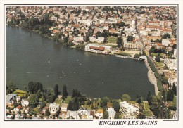 95 Enghien Les Bains Vue Aérienne Sur Le Lac Et Le Casino (Scan Recto Verso) - Enghien Les Bains