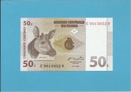 CONGO - 50 CENTIMES -  01.11.1997 - P 84A - UNC. - Sign. 12 - Printer ATB - DEMOCRATIC REPUBLIC - Congo