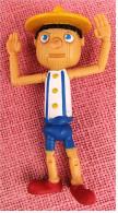 Figur Von McDonald  - Pinoccio - Aus Hartgummi - Etwas Biegsam - Arme Beweglich - Unclassified