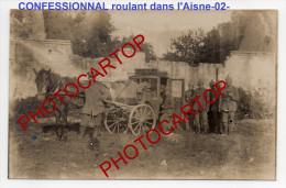 CONFESSIONNAL Roulant-PRETRE-PENITENTS-PECHES-ABSOLUTION-RELIGION-Carte Photo Allemande-Guerre14-18-1WK- - Non Classificati