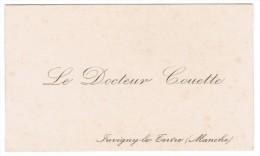 LE DOCTEUR COUETTE JUVIGNY-LE-TERTRE MANCHE - Cartes De Visite