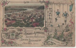 L' UNION LYONNAISE ( Concours De Gymnastique 1910 ) - Vienne