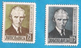 1936 326-27 JUGOSLAVIJA NIKOLA TESLA PHYSIKER ELEKTROTECHNIKER MNH - Neufs